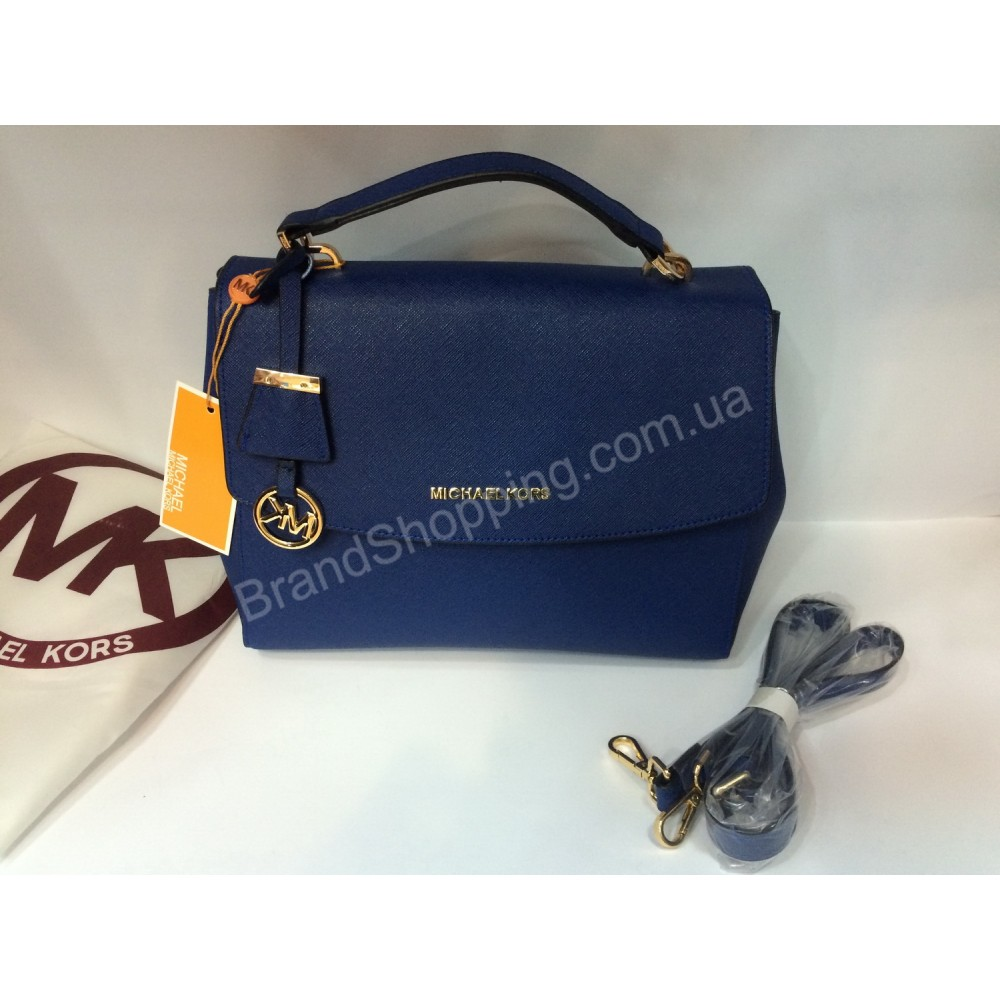 Женская кожаная сумка Michael Kors Blue0146s