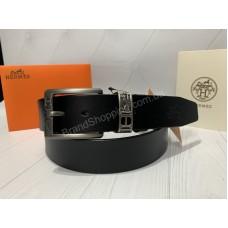 Мужской ремень Hermes ширина 4см в подарочной упаковке арт 20337