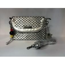 Женская кожаная сумка Burberry Silver 0151s