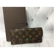 Кошелек Louis Vuitton из натуральной кожи канва реплика арт 20388