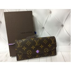 Кошелек Louis Vuitton из натуральной кожи канва реплика арт 20389