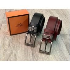 Шикарный ремень Hermes натуральная кожа в подарочной упаковке арт 20391