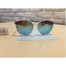 NEW 2018!!Очки солнцезащитные прозрачная оправа цвет  стекол синий арт 2017