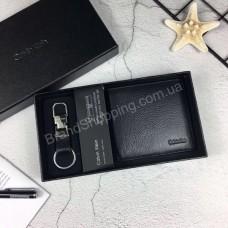 Подарочный набор Calvin Klein кошелек и брелок арт 20349