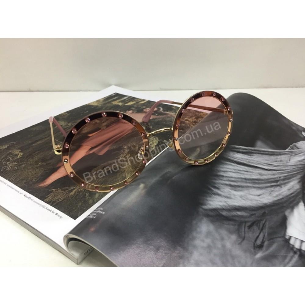 NEW 2018!!Очки солнцезащитные женские круглые в нежно-розовом цвете арт 2023