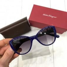 Женские очки Salvatore Ferragamo в синей оправе арт21460