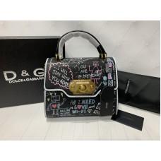 Стильная сумочка Dolce&Gabbana в черном цвете арт 20359