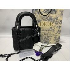 Стильная сумочка Lady Dior mini натуральная кожа арт 20360