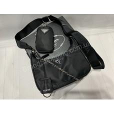Сумка Prada реплика 2в1 в черном цвете арт 20361