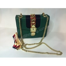 Женская сумочка Gucci Green 0177s