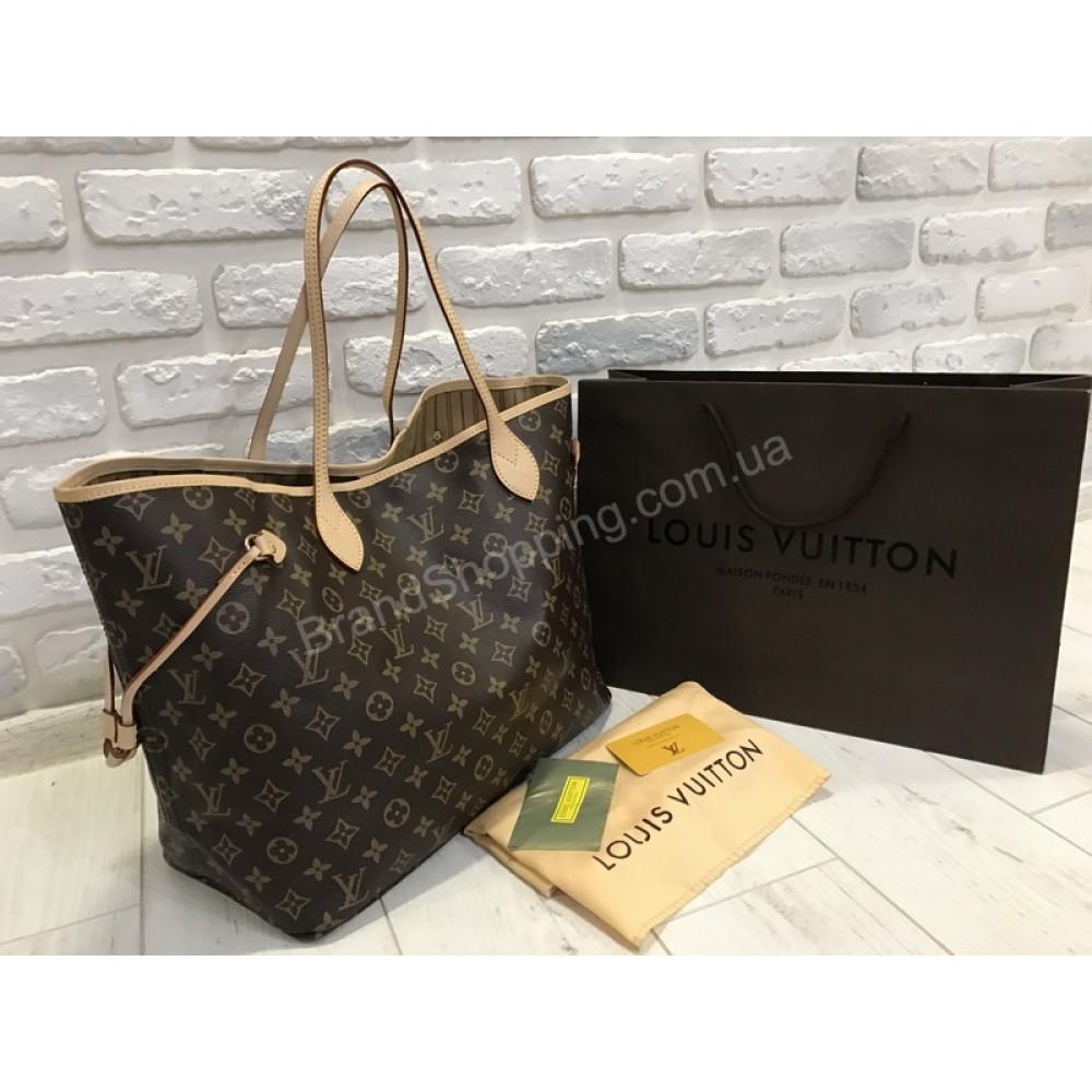 Стильная сумочка Louis Vuitton Lux neverfull 1736