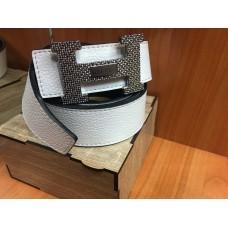 Двусторонний кожаный ремень Hermes ширина 4 см 0705
