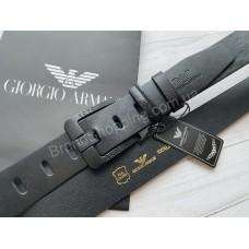 Ремень Giorgio Armani в черном цвете арт 21501