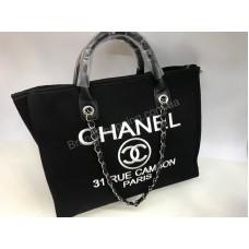 Стильная сумочка Chanel Lux копия черная 1555