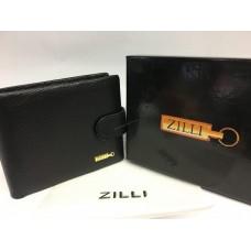 Кожаный мужской кошелек Zilli черный 1408