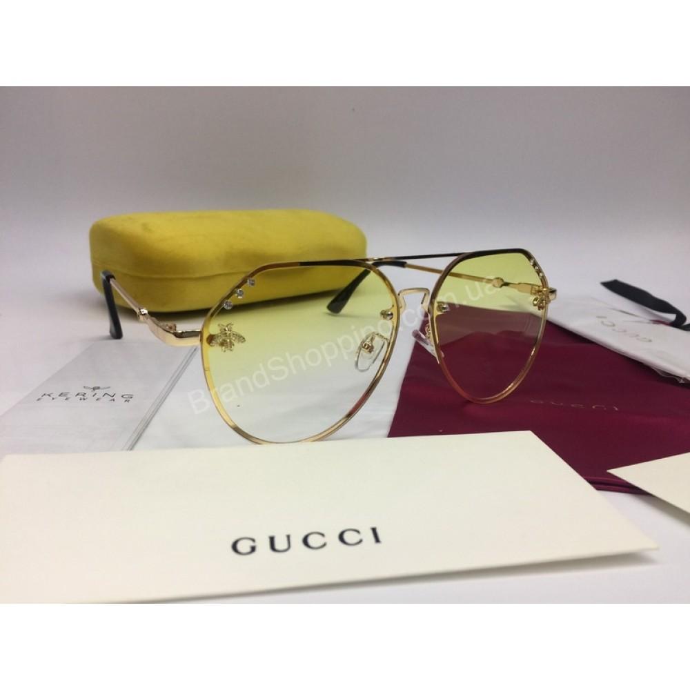 NEW 2018  Очки солнцезащитные  Gucci линза желтого цвета 2032