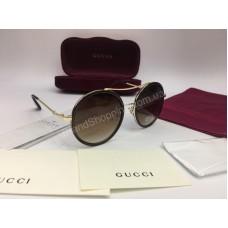NEW 2018 Очки солнцезащитные Gucci круглые в коричневом цвете арт 2038