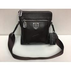 Кожаная мужская сумка Philipp Plein brown 1424