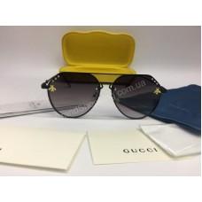 NEW 2018 Очки солнцезащитные Gucci с темными стеклами украшены стразами Swarovski 2047