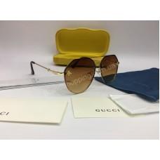 NEW 2018 Очки солнцезащитные Gucci с коричневыми стеклами украшены стразами Swarovski 2048