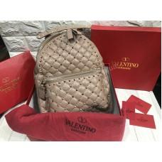 Рюкзак сумка Valentino Lux реплика в пудровом цвете арт 20588