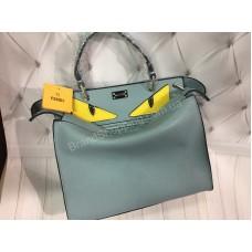 Стильная сумочка Fendi Peekaboo в голубом цвете арт 20444
