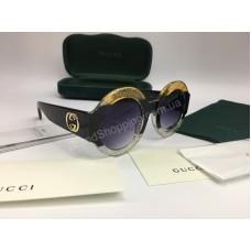 NEW 2018 Очки солнцезащитные Gucci оправа круглая трех цветная арт 2054