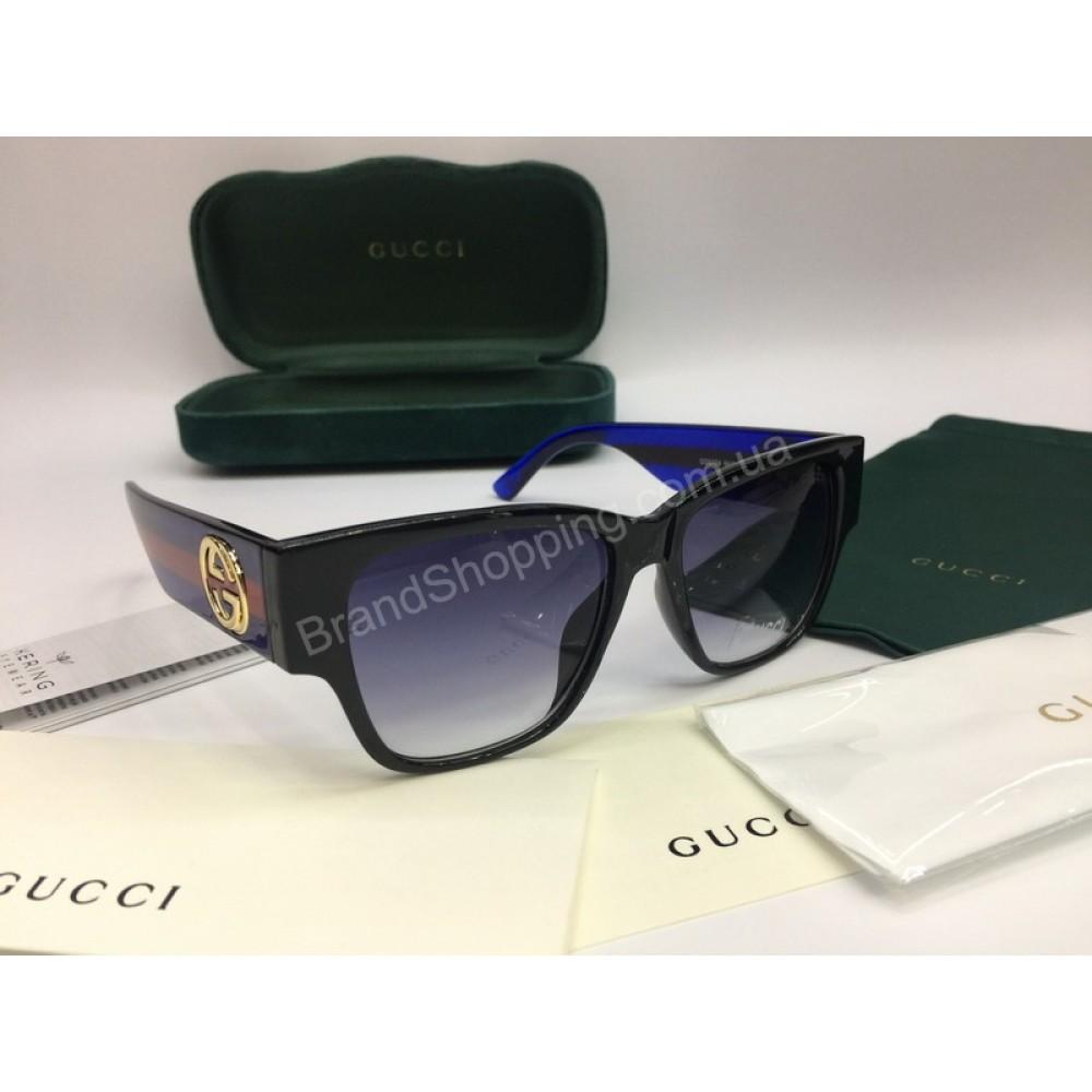 NEW 2018 Очки солнцезащитные Gucci с широкой синей дужкой