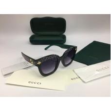 NEW 2018 Очки солнцезащитные Gucci с синей дужкой в полном комплекте арт 2056