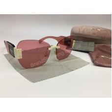 NEW 2018  Крутые очки солнцезащитные MIU MIU в нежно -розовом цвете арт 2060