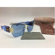 NEW 2018  Крутые очки солнцезащитные MIU MIU в нежно -голубом  цвете арт 2061