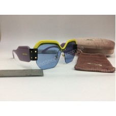 NEW 2018  Крутые очки солнцезащитные MIU MIU в нежно -розовом цвете арт 2062