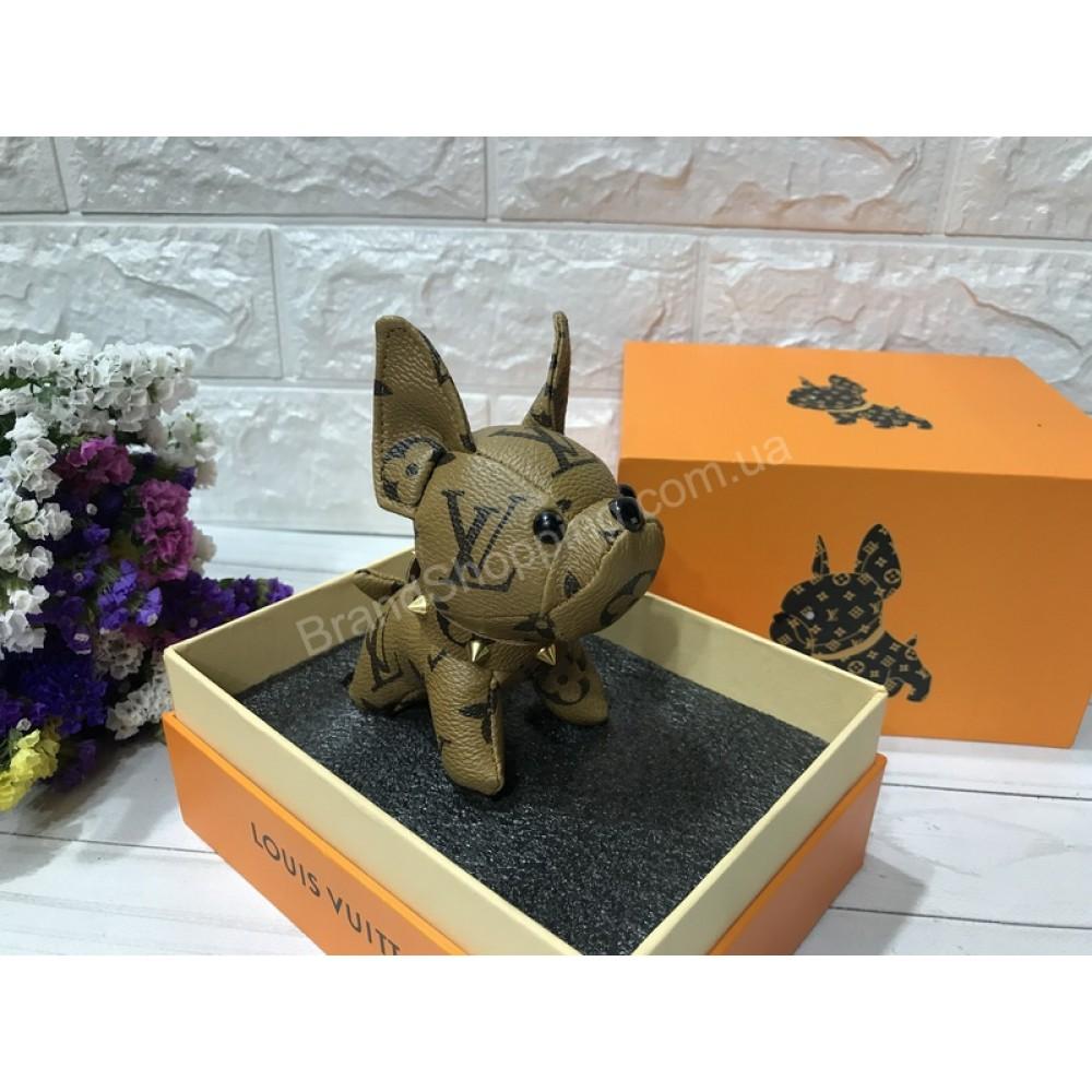 Стильный брелок Louis Vuitton Dog в светло-коричневом окрасе арт 20595