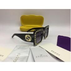 NEW 2018 Очки солнцезащитные Gucci с широкой дужкой цвет черный арт 2070