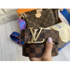 Ремень Louis Vuitton двухсторонний коричневая клетка арт 21490