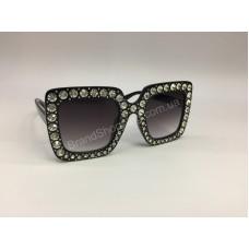НОВИНКА 2018 Шикарные солнцезащитные очки с стразами Swarovski в черной оправе арт 2080