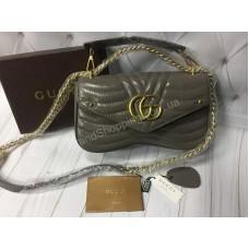 Стильная сумочка Gucci реплика из натуральной кожи арт 20453