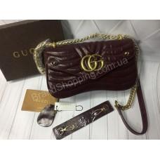 Стильная сумочка Gucci реплика из натуральной кожи арт 20454