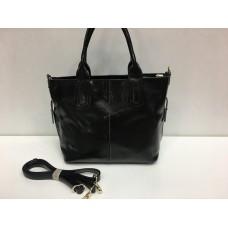 Женская кожаная сумка черного цвета 1448