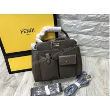 Стильная сумочка Fendi реплика натуральная кожа арт 20603