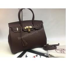 ХИТ сезона ! Стильная сумочка Hermes birkin  30см из натуральной кожи 1596