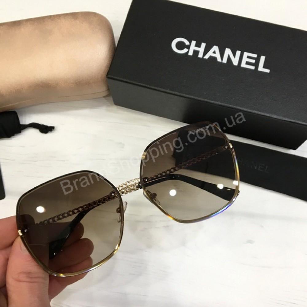 Женские солнцезащитные очки Chanel  в полном комплекте арт21510
