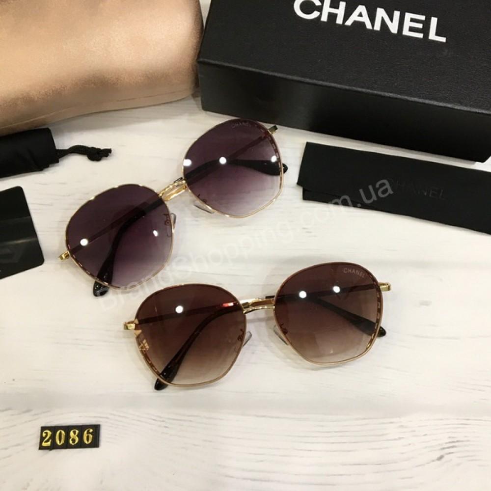Женские солнцезащитные очки Chanel  в полном комплекте арт21516
