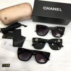 Солнцезащитные женские очки Chanel с поляризацией в полном комплекте арт21520