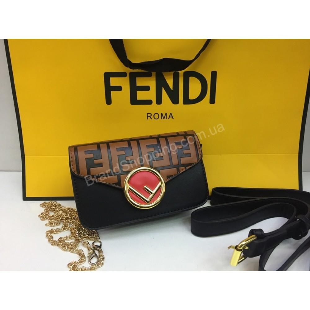 NEW Бананка -сумочка Fendi в черном цвете арт 20204