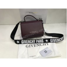 Сумочка Givenchy Lux из натуральной кожи в цвете марсала  арт 1852