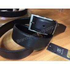 Двусторонний кожаный ремень Alon 0807 ширина 3,5см черный