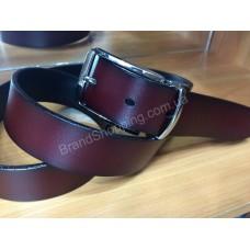 Двусторонний кожаный ремень 0808 ширина 3,5см коричневый/черный