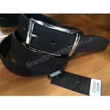 Двусторонний кожаный ремень Alon 0809 коричневый замшевый/черный