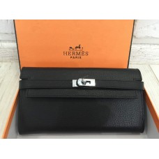 Кожаный стильный кошелек Hermes 0501